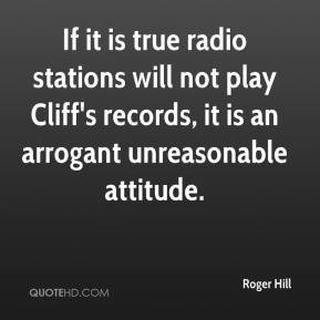 If it is true radio stations will not play Cliff's records, it is an ...