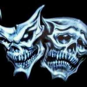 Skulls, theater happy/sad masks