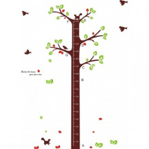 Tree Growth Chart with Birds