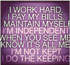 although i work well with others i am perfectly capable of doing ...