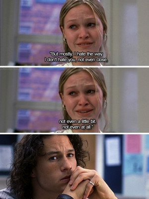 Sad Julia Stiles Cries Over Heath Ledger In Class In 10 Things I Hate ...
