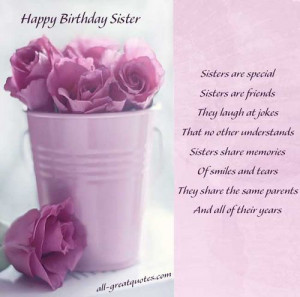 Birthday Quotes For Sister For Facebook happy birthday wishes sister
