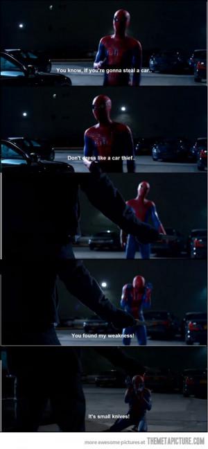 Funny photos funny Spider Man Amazing scene