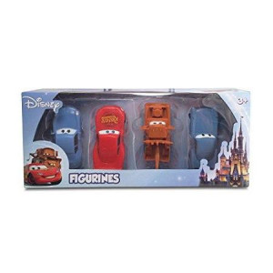 ... Disney Cars Themed 4 Pack Playset (Lightning McQueen, Mater, Finn