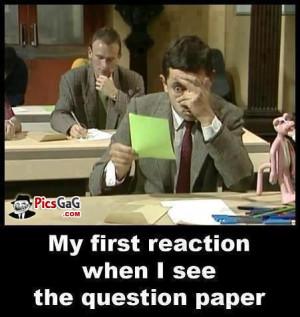 Exam Meme Funny Reaction