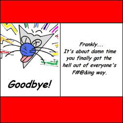 Funny Goodbye Greeting Card