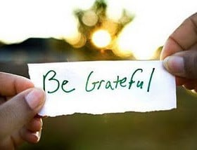 ... are a few tips to help you be grateful for the blessings in your life