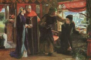 Il primo anniversario della morte di Beatrice: Dante sta disegnando un ...