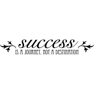 Success is not the destination, its the journey - Success Quote.