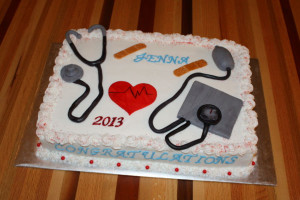 medical assistant graduation cake