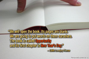 """Inspirational Quote: """"We will open the book. Its pages are blank. We ..."""