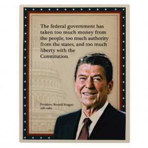 President Ronald Reagan Quote Plaque