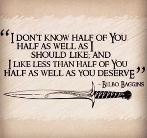 Bilbo baggins BEST QUOTE EVER