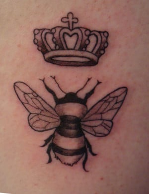Queen Bee Image Tattoo Design