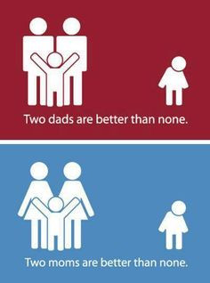 Love makes a family. More