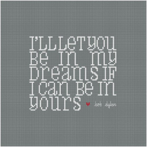 Embroidery: In My Dreams - Wee Little Quotes