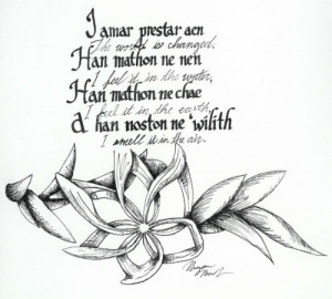 Lord Of The Rings Quotes In Elvish Lord of the Rings Quotes