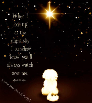 know you'll always watch over me quote and illustration via www ...