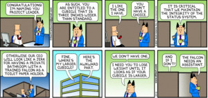 Dilbert – Cabin for Project Manager