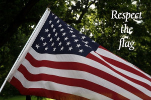 Respect The Flag and what it stands for!