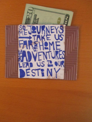 graduation gift/card, quote