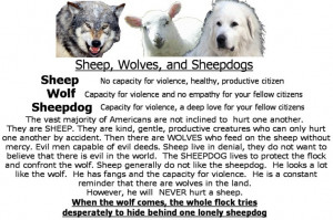 sheep sheepdogs and wolves