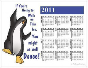 Penguin Dancing 2011 Magnet