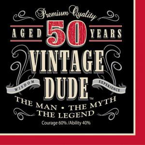 vintage men s 50th birthday luncheon napkins vintage 50th birthday ...