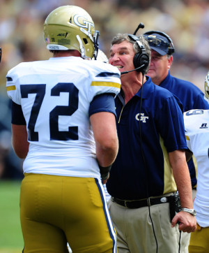 Paul Johnson Head Coach Paul Johnson of the Georgia Tech Yellow