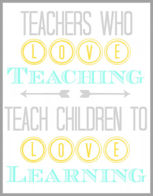 Teacher Appreciation Quote {Printable}