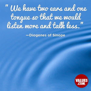 An inspiring quote about #listening from www.values.com #dailyquote # ...