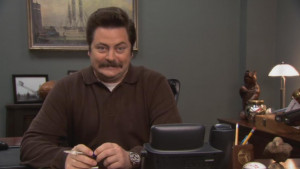 like schmidt from new girl parks and recreation s ron swanson is ...