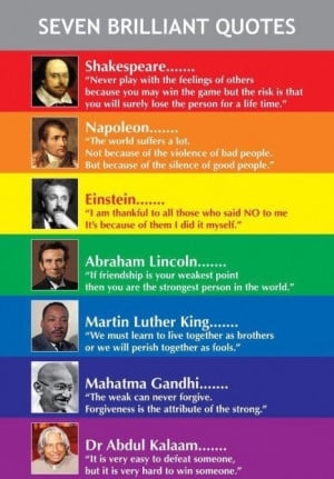 Seven Brilliant Quotes by Great People!!!