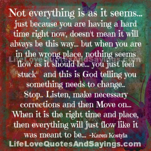 God Places Roadblocks Our