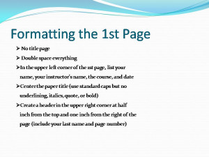 MLA Formatting and Integrating Quotes Presention