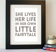 fairytale' quote print by hope and love | notonthehighstreet.com
