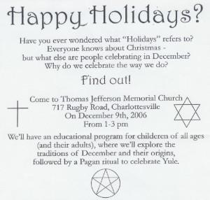 Pagan Christmas ritual pressed on young kids