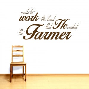 The Farmer - Wall Decals