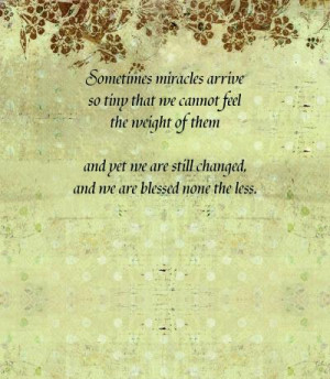 Miscarriage Poems – Tiny Miracles. My miscarriage def. Affected me ...