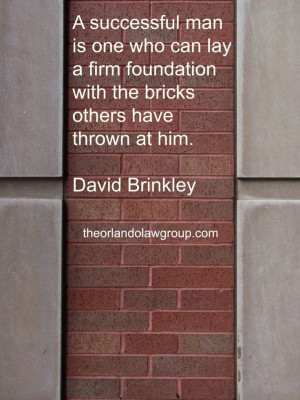 quote from David Brinkley #inspiration This is so true:)