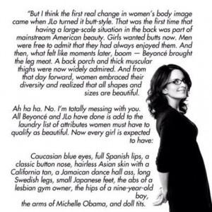 Tina Fey Quote Body