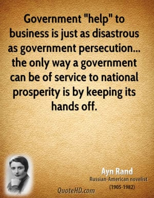 Ayn Rand Government Quotes