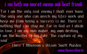 Inspirational Motivational Quote by Orson Swett Marden & Chris T ...