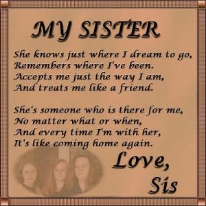 images for sister love poem
