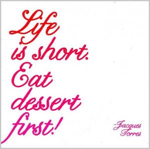 Eat Dessert First Magnet