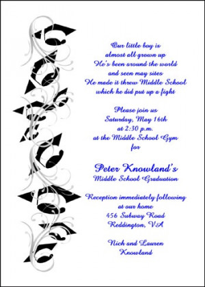Graduation 8th Grade Announcement