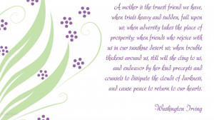 ... wallpaper on Mother's Day : A mother is the truest friend we have