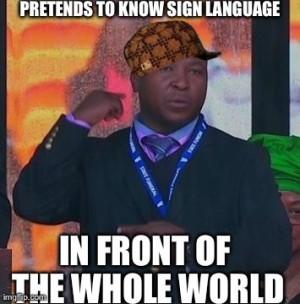 Sign Language Interpreter At Mandela Memorial Fakes The Entire Event