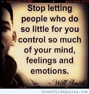 Will Smith quote on feelings and emotions