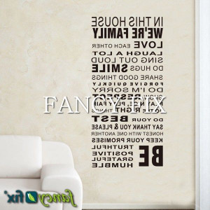 Related Pictures large house rules family funny quotes wall sticker ...